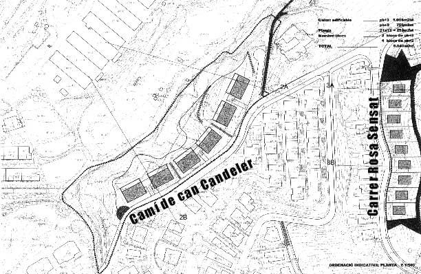 Proposta d'urbanització del camí de can Candeler i c/ Rosa Sensat